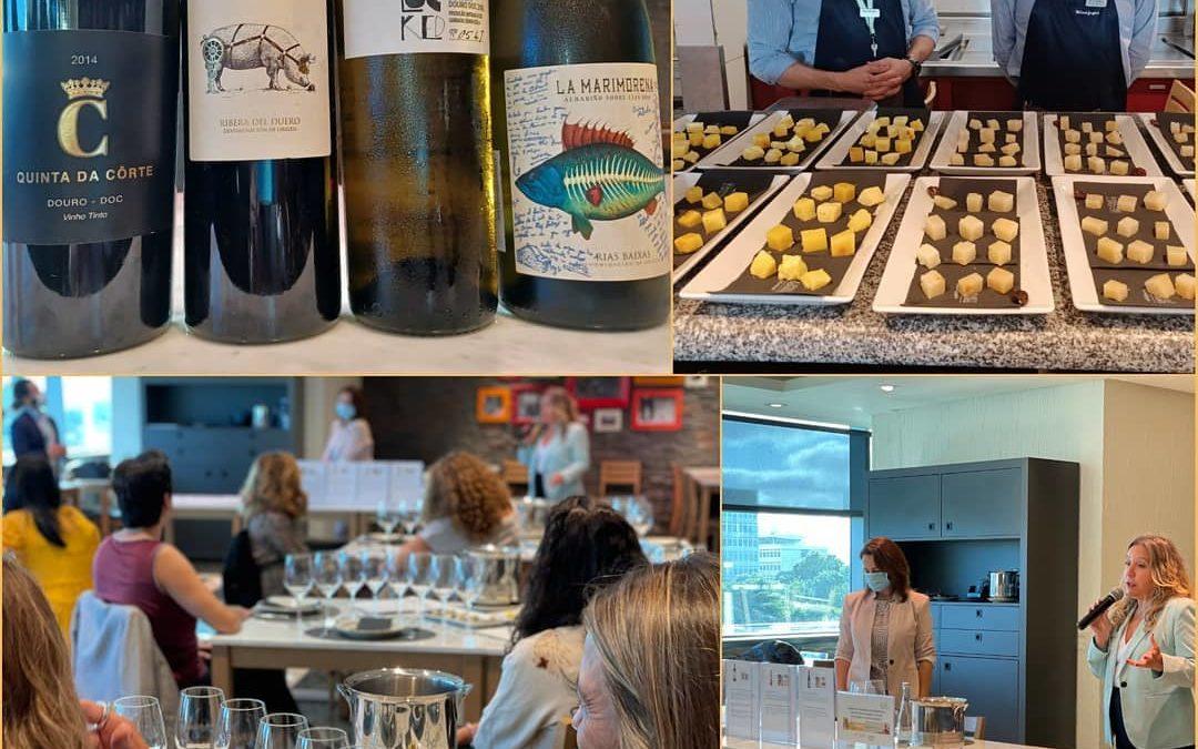 Cata de Vinos Ibéricos para las mujeres profesionales españolas en Lisboa